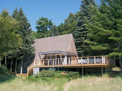 Harbor Springs cabin rental - A-Frame viewed from the beach.