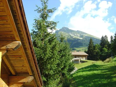 Apartment in chalet, quiet in the summer, on the runs in winter