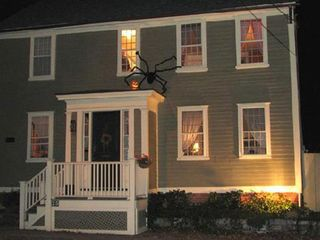 Warwick cottage photo - Halloween is fun around old houses. Is that a witch in the upstairs hall?