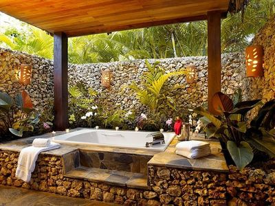 Outdoor bath and shower