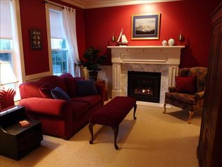 Poulsbo house photo - Relaxing Retreat Style Formal Sitting Room w/gas fireplace and Entertainment Ctr