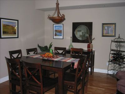 Spacious Dining Area Seats Eight