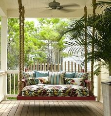 Port St. Joe house photo - Luxurious porch bed swing ~ perfect for naps, cuddles and storytime!