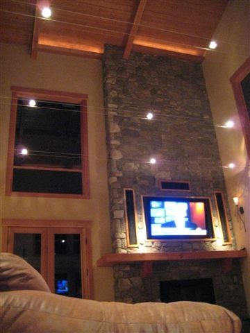 Great Room Lighting + Plasma