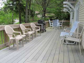Newfound Lake chalet photo - Large deck to hang out on