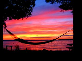 Burt Lake cottage photo - Hammock at sunset