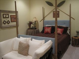 South Padre Island house photo - Bedroom #2 with queen bed & futon