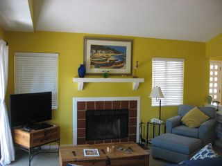 Shipyard villa photo - wireless internet,cable tv, central air conditioning, flat screen, and fireplace