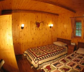 Burt Lake cabin photo - Bedroom 3 - Located ground floor road side.