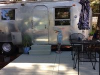 Vintage Airstream over looking pond, with beach access in historic Carrabelle