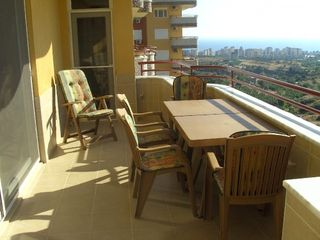 Alanya apartment photo - Big terrace side of livingroom and kitchen, seaview