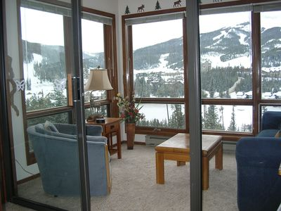 Enjoy the View from our Big Sky Condo Rental Sunroom