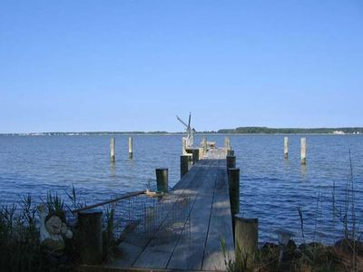 Our 200' dock has infinite views and allows crabbing, fishing, and launching