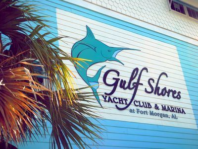 Gulf Shores Marina is across the street