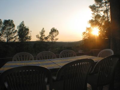 Sunset seen from Veranda