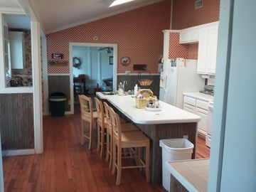 Eat in kitchen just off the great room with all the appliances needed.