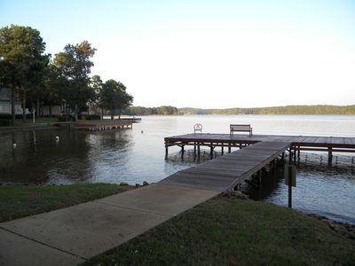 Marina/dock area within walking distance and great for fishing or renting a boat