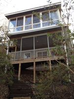 View of the back of our 3 story home facing the lake
