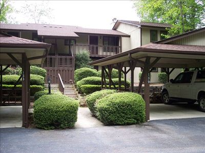 Caesars Head condo rental - Front with covered parking