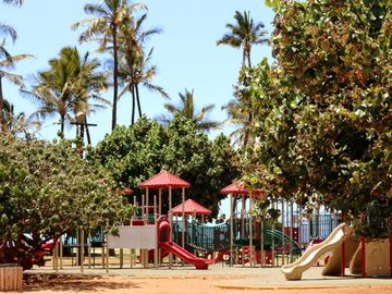 Amazing and large playground just a few steps away! Kids love it here!