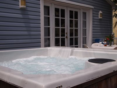 Hot Tub on spacious deck