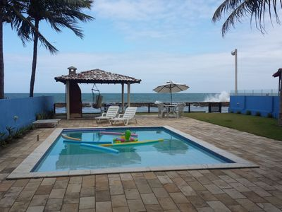 House by the sea w / 8 rooms - 6 large suites + Pool and Barbecue