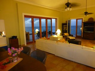 St. Croix villa photo - Relax in the Great Room and look out at the deck, pool, & the Caribbean