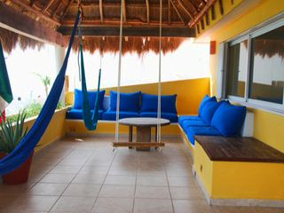 Isla Mujeres house photo - Swing from the hammocks under the palapa