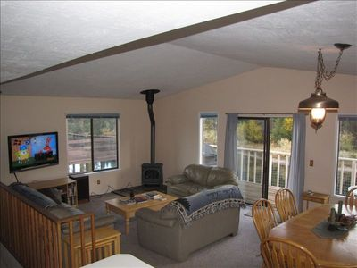 Tahoe Keys house rental - Spacious living, dining areas, forest and water views, stereo HDTV home theater.