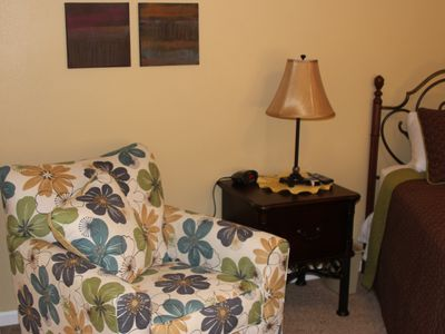 One of the two 'comfy' chairs in the Master Bedroom