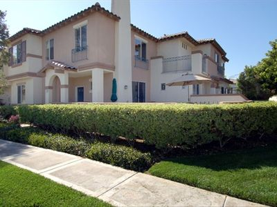 Corner location with Patio and view of pool; adjacent to Tustin Ranch Golf Club