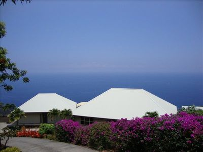 Arrival with ocean backdrop. All to yourselves on five acres of total privacy.