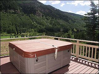 Vail house photo - Hot Tub Overlooking Sweeping Valley Views
