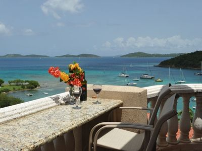 Cruz Bay condo rental - Enjoy breakfast or the sunset on your balcony