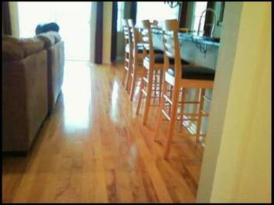 real wood flooring- newer carpets in all bedrooms