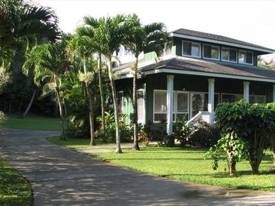 Front view of Anini Kai Home from Anini Road