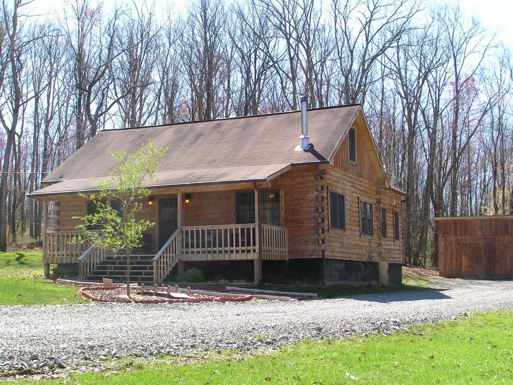 Wv Luxury Log Cabin Sleeps 12 With Private Homeaway Hico