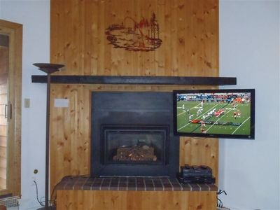 "Fireplace & 42"" TV"