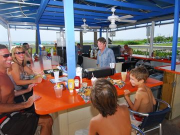 Oustide Beach Bar and Smoothies for the Kids