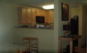 Kitchen has upgraded appliances and separate eating area