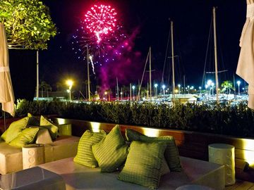 Every Friday night fireworks from the Penthouse or cocktails at 'The Modern'