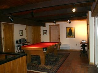 North Conway house photo - 8' pool table, air hockey, wet bar & fireplace