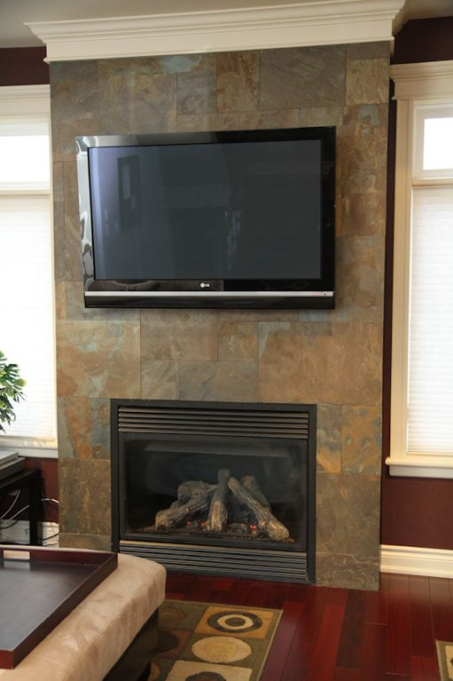 Living Area Television and Fire Place