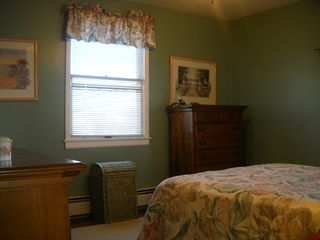 Lavallette house photo - Updated, clean, painted, new queen bed, ceiling fan bdrm.1 Top unit.