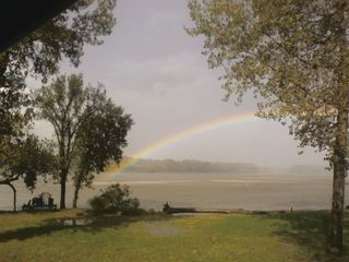 Linwood lodge photo - Conveniently located near the end of the rainbow! (view from deck)