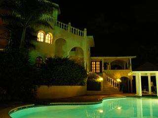 Puerto Plata villa photo - Nighttime Lighting for an Evening Swim
