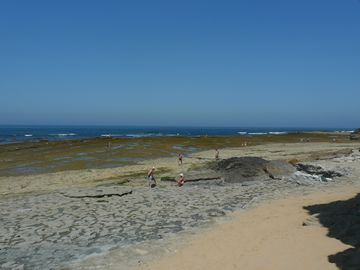 Low tide at Ribeira d'Ilhas beach