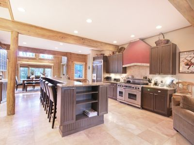 Breckenridge house rental - State of the art open kitchen with designer $11,000 oven