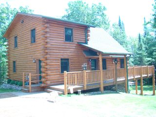 Crandon cabin photo - Cabin view from the driveway.
