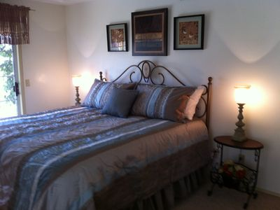 Master bedroom with king size pillowtop mattress